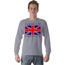Camiseta Camisa Bandeira Inglaterra Reino Unido Algodão