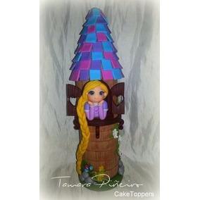 Adornos Torta O Mesa Dulce Rapunzel En Torre Porcelana Fria