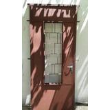 Puerta Para Frente Doble Chapa Con Reja Americana Y Postigo