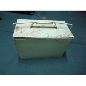 Caixa Termica - Cooler Antigo De Lata - Tipo Coca / Cerveja