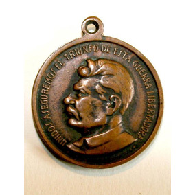 Medalla 2da Guerra Mundial Curchill Roosevelt Stalin Aliados
