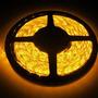 Fita Led Automotiva Luz Amarela Rolo De 5mts 300 Led 3528