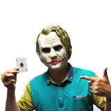 Máscara Coringa Joker Luxo Adulto Látex Cosplay Fantasia