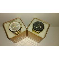 Kit C/10 Relógios Masculino+caixas Atacado Melhor Preço