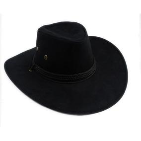 Sombrero Vaquero Ala Ancha Cowboy Vintage Negro