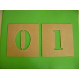 Stencil Letra De 0 A 9 + Alfabeto 10cm De Altura Mdf 3mm