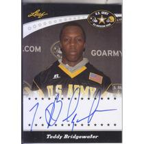 2011 Leaf U.s Army Bowl Rookie Autografo Teddy Bridgewater