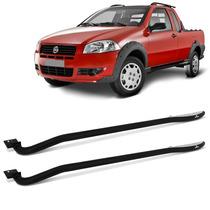 Estribo Lateral Fiat Strada Tubolar Chapa Aluminio Keko