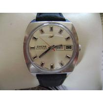 Bonito Reloj Enicar Automatic. Vintage. Caja De Acero Inox.