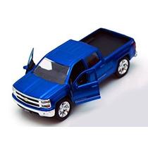 Coleccionable La Camioneta Pickup Chevy Silverado, Azules -