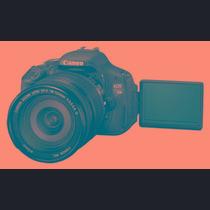 Câmera Canon Eos Rebel Eos T3i Lente 18-135mm.