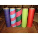 Lote De 20 Tubos De Carton De Colores Variados 29 X 8 Cm