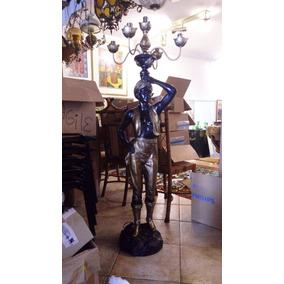 Black Moor De Petit Bronze-candelabro Com 5 Luminarias 500