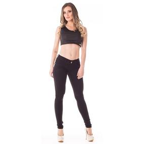 Calça Jeans Feminina Cigarrete Up Fit Baixa Skinny - Amaciad