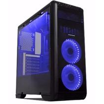 Gabinete Gamer Tornado Pc Acrilico Atx Preto Fan Azul - Nfe