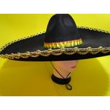 Um Disfarce + 1 Chapeu Mexicano Bordado Soldado Apache Zorro