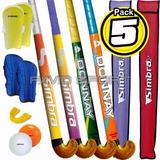 Pack Hockey - Palo + Funda + Prot Bucal + Canilleras + Bocha