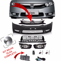 Kit Transformação New Civic 2009 2010 2011 C/ Ressalto Placa