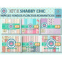 1 Kit Imprimible X 6 Sets Shabby Chic Candybar Fondos 15 Año