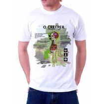 Camiseta Bio Creeper Paródia Biologia Minecraft