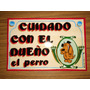 Cartel En Chapa Con Fileteado Porteño