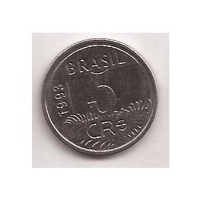 Brasil Moneda De 5 Cruzeiro Reais Año 1993