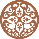 Trio Quadros Mandalas Decorativo Para Parede Em Mdf Cru