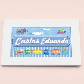 Carlos Eduardo Enfeite Porta Maternidade Con Nome: Design 14