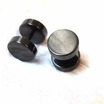 Acero Quirúrgico Negro Aros Falso Expansor Piercing Negro