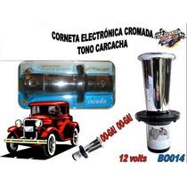 Corneta Tono Carcacha Cromada Bo014