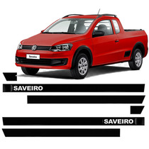 Friso Lateral Vw Saveiro 90 91 92 93 94 95 96 97 - Kit 6pçs