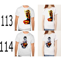 3 Camisas 39,90 Vingadores Supergairl Lobo Batman Superman
