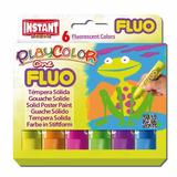 Tempera Sólida Escolar Fluorescente 6 Colores 10 Gr Instant