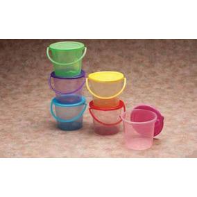 100 Cubetas De Plastico Colores Fiesta, Dulcero, Recuerdo