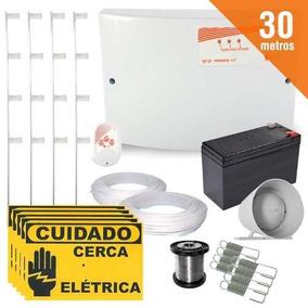 Kit Cerca Eletrica 30 Metros Completo Setor Alarme + Brinde