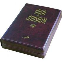 Bíblia De Jerusalém Zíper Média Capa Luxo
