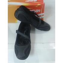 Zapato Zapatilla Calzado Torerita Escolar Niña Negro Rs21