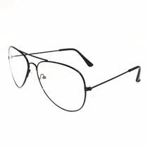 Promoção Armação Óculos Transparente Aviador Importado