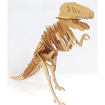 Dinosaurio Tyranosaurio Rex Rompecabezas 3d En Mdf