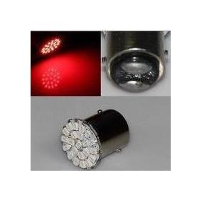 Lampada Lanterna Freio Traseira 2 Polos 22 Leds Vermelho