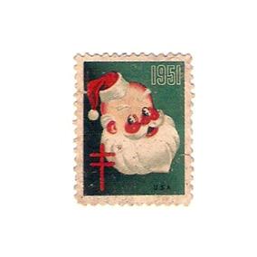 Selo Americano 1951 Papai Noel Não Postal Raridade.