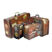 Adesivos Retrô Malas De Viagem - Kit Com 03 Cartelas