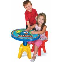 Mesa Com Cadeira Galinha Pintadinha Mesinha Infantil