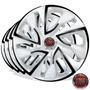 Calota Jogo Aro 14 Esportiva White Fiat Palio 2007/...4pcs