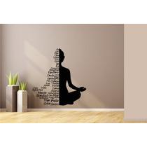 Vinilo Decorativo Yoga Silueta Frases Envio Gratis 120x120cm