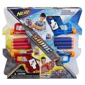 Pistola De Juguete Nerf Jolt Sonic Ice And Fire (con Dardos)