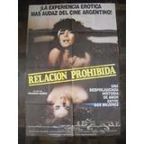 Afiche Cine Relacion Prohibida Ricardo Suñez Mara Kano Jenny