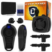 Kit Alarme Defender Tech Fox Top + Trava Eletrica 2 Portas