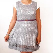 Vestido Tejido Al Crochet- Para Noche Fiesta Xl Talle Grande