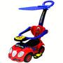 Carro Montable Cochecito Capota Infantil Azul Con Rojo